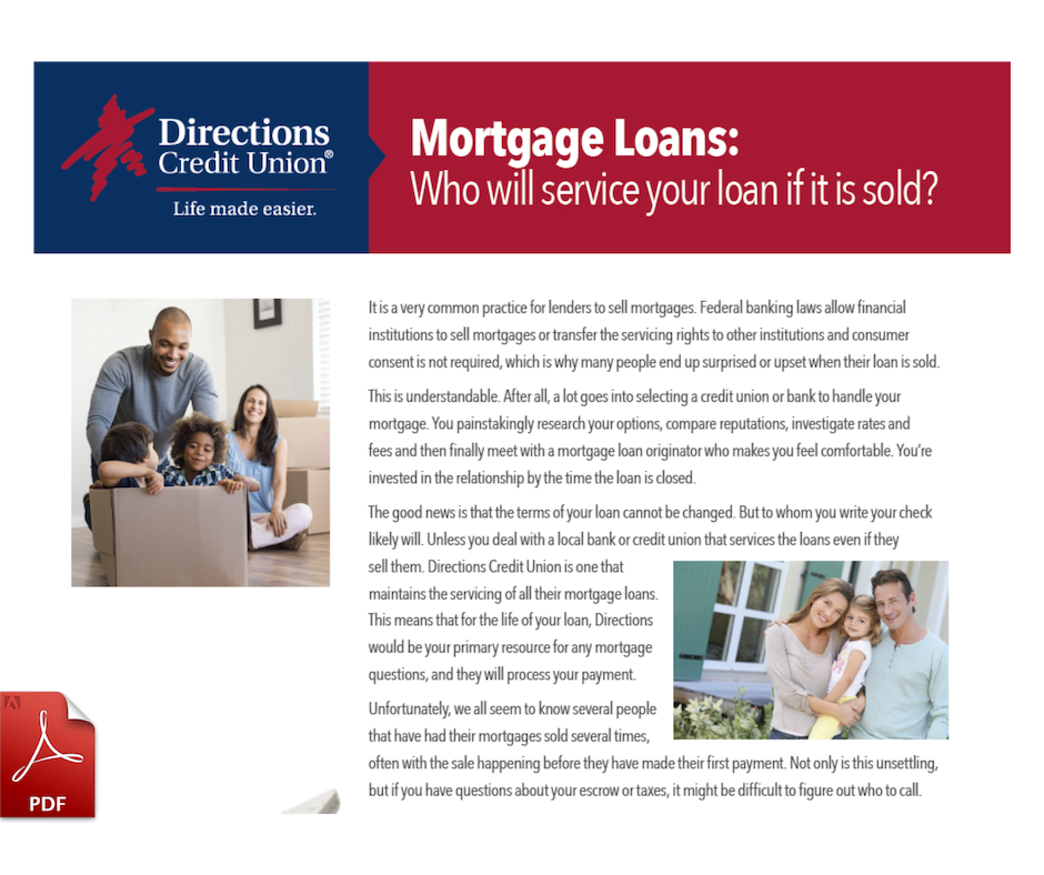 Who will service your loan Landing Page Graphic